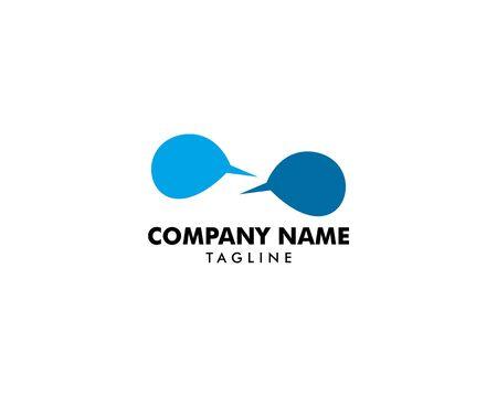 Bubble Chat Concept Logo Design Template Archivio Fotografico - 142041876