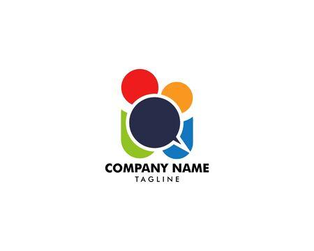 Group People Chat Logo Design Template Archivio Fotografico - 142041882