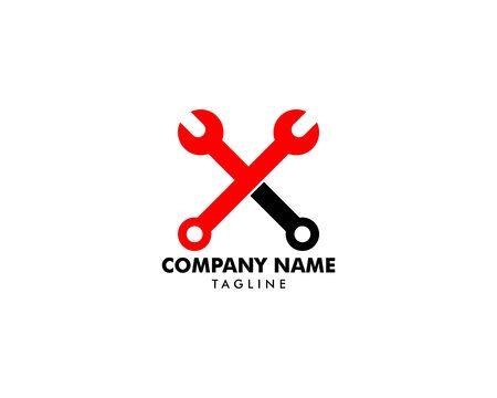 Repair Service Logo Design Element Archivio Fotografico - 142506807