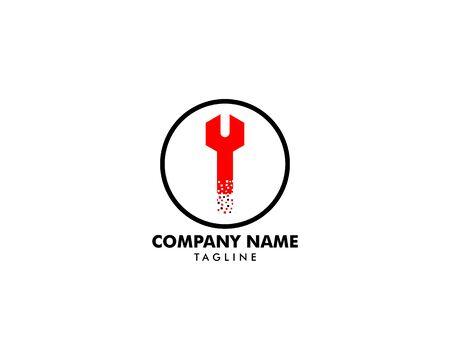 Repair Service Logo Design Element Archivio Fotografico - 142506814