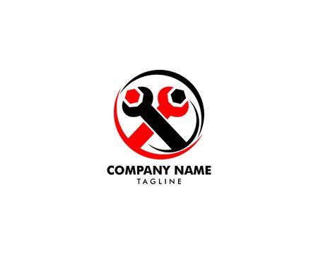 Repair Service Logo Design Element Archivio Fotografico - 142506818