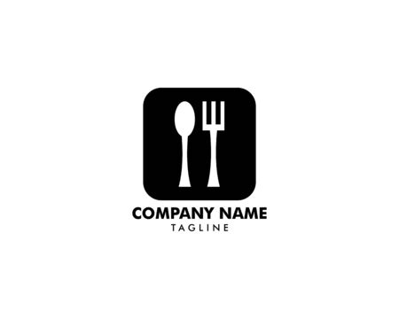 Logo restaurant with cutlery, A spoon and fork vector illustration Archivio Fotografico - 142506919