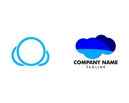 Set of Cloud logo design template vector icon Archivio Fotografico - 142506947