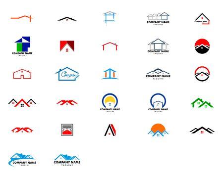 Set of Real Estate Logo Design, House Logo Design, Creative Real Estate Vector Icons Archivio Fotografico - 142506925