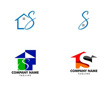 Set of Initial Letter S With House Logo Archivio Fotografico - 142506954