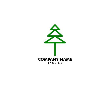 Pine Tree Logo Design Template Archivio Fotografico - 142506956