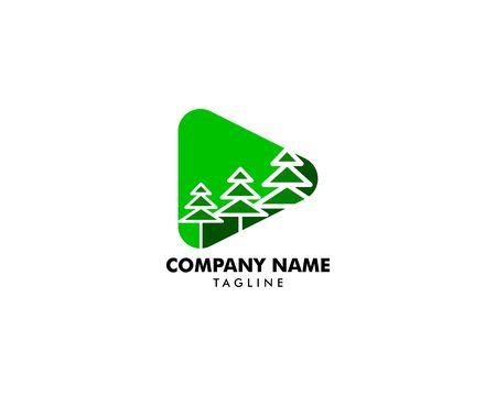 Pine Tree Logo Design Template Archivio Fotografico - 142506957
