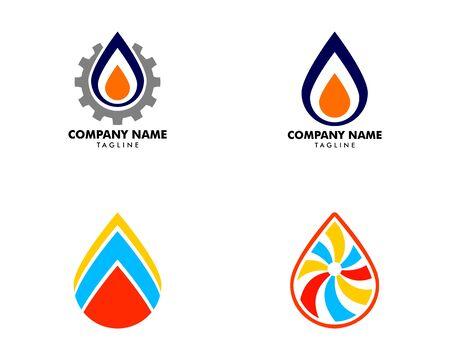 Set of Oil and Gas Logo Design Vector Template Ilustração