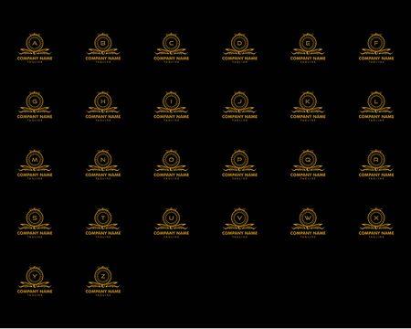 Set of Initial Letter Luxury Ornament Monogram Logo
