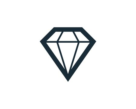 Diamond Stone Icon Vector Logo Template Illustration Design