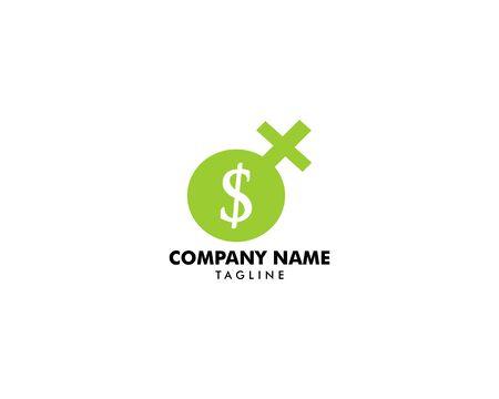 Chief financial mom logo design vector illustration
