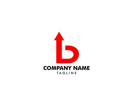 Initial Letter B with Arrow Logo Design
