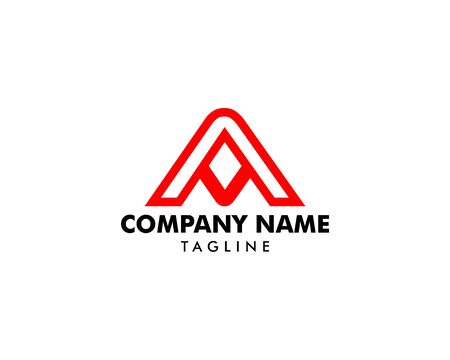 Initial Letter AV Logo Template Design Illusztráció