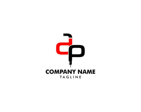 Initial logo letter ADP with icon stone breaker vector design