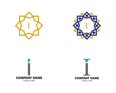 Set of Initial Letter I Logo Template Design Reklamní fotografie - 151132116
