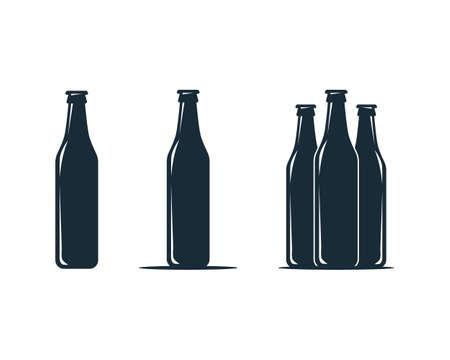 Bottle Icon Vector Logo Template Illustration Design