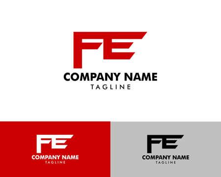 Initial letter FE logo template design