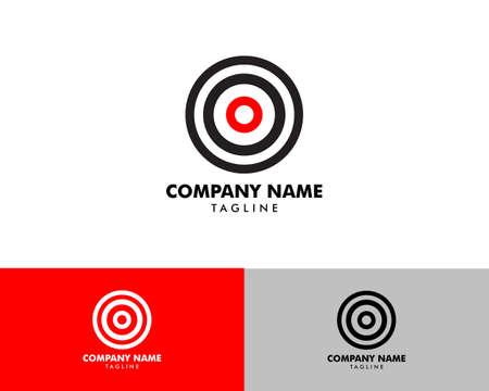 Target Icon Logo Design Template Ilustrace