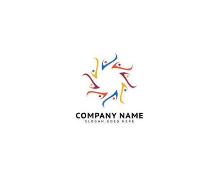 Group people check logo design vector template