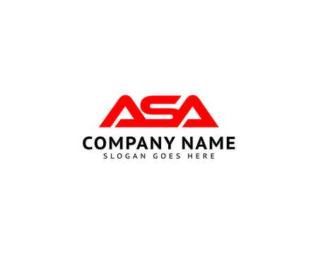 Initial Letter ASA Logo Template Design