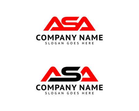 Set of Initial Letter ASA Logo Template Design Logo