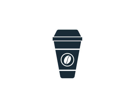 Coffee Cup Icon Vector Logo Template Illustration Design Ilustração