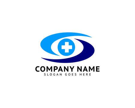 Medical Eye Logo Template Design Vector