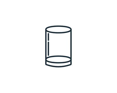 Glass Icon Vector Logo Template Illustration Design Ilustracja