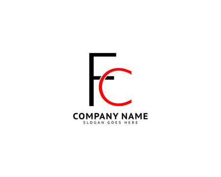 Initial Letter FC Logo Template Design Ilustracja