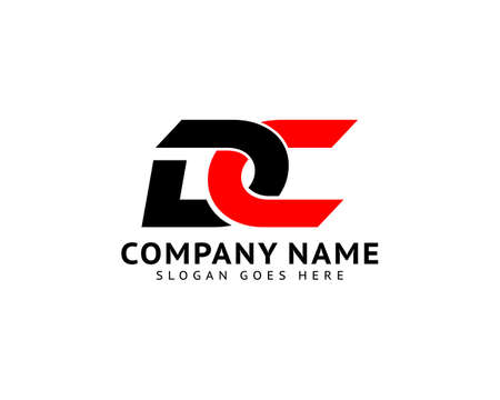 Initial Letter DC Logo Design Template