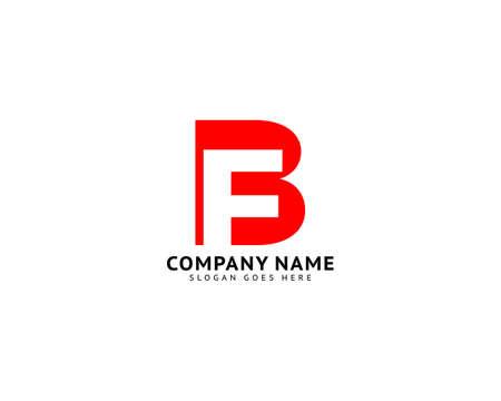 Initial Letter FB Logo Template Design