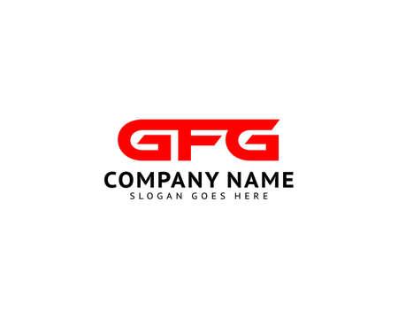 Initial Letter GFG Logo Template Design
