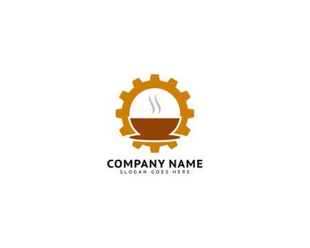 Coffee Gear Logo Design Template