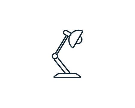 Table Lamp Icon Vector Logo Template Illustration Design