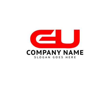 Initial Letter GU Logo Template Design Ilustracja