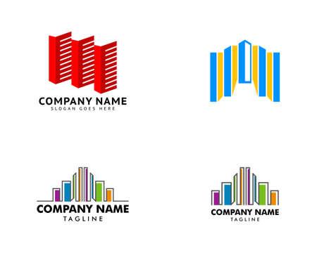 Set of Building Icon Logo Design Element