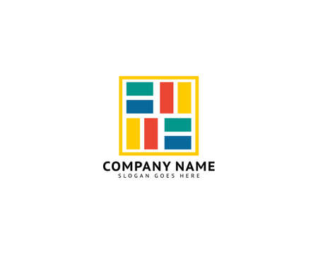 Flooring Tiles Logo Design Template Ilustracja