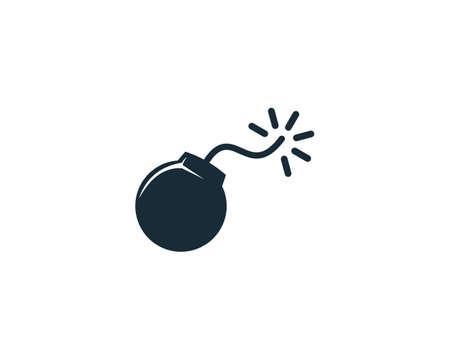 Bomb Icon Vector Logo Template Illustration Design Ilustracja