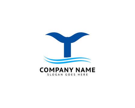Fishtail vector icon logo design
