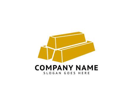 Gold Bars logo design on white Иллюстрация