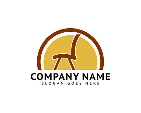 Furniture Chair Logo Template Design