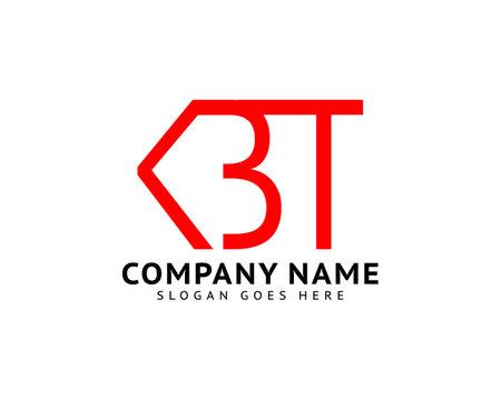 Initial Letter KBT Logo Template Design