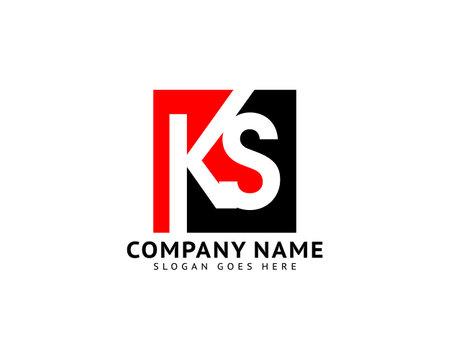 Initial Letter KS Logo Template Design Logó