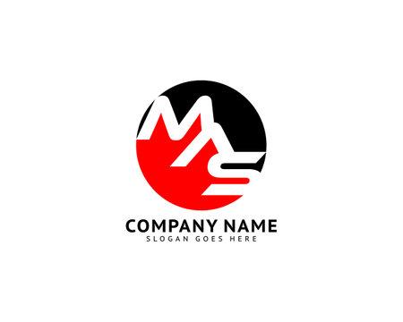 Initial Letter MAS Logo Template Design