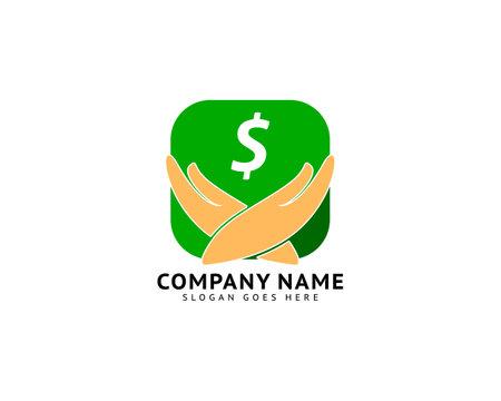 Money care design logo concept Logo