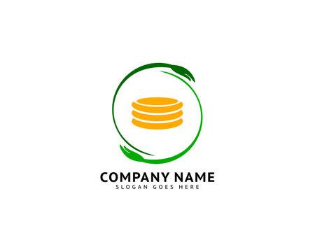 Coin care logo design concept