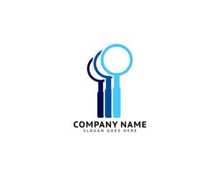 Magnifying Glass Logo Template Design Illustration