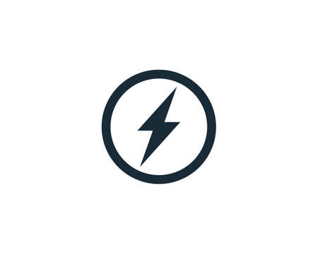 Lighting Bolt Icon Vector Logo Template Illustration Design