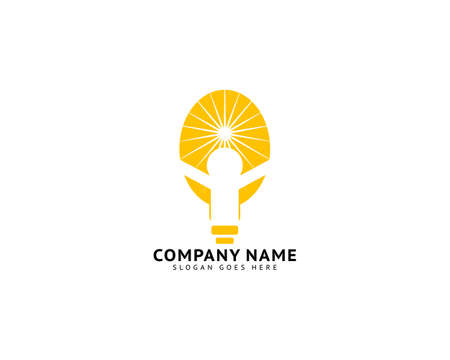 Creative people logo with light bulb concept vector, Creative idea logo design, Bulb icon symbol design