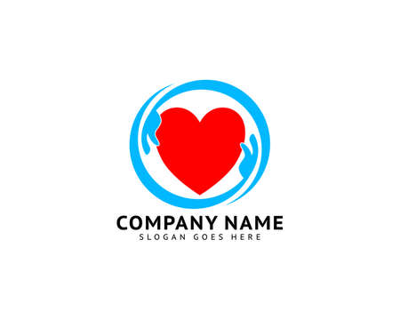 Heart Care Logo Template Design